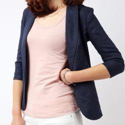 Casual Lapel Solid Color 3/4 Sleeve Blazer For Women -