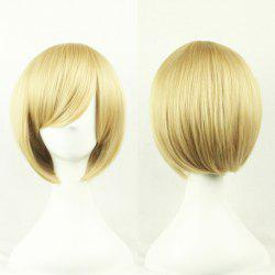 Top Quality Side Bang 24CM Shaggy Short Straight Prevailing Bob Hairstyle Cosplay Wig -