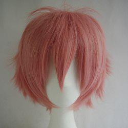 Fashion Fluffy Side Bang 30CM Charming Short Straight Heat Resistant Synthetic Cosplay Wig For Women -