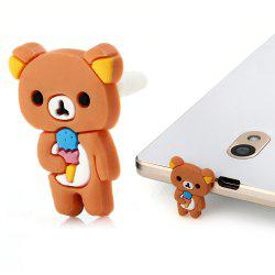 Cute Bear 3.5mm Dust Plug Headphone Earphone Jack Cap for iPhone 6 Plus iPad Samsung Galaxy S6 Edge