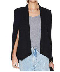 Stylish Shawl Collar Long Sleeve Furcal Women's Blazer