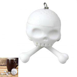Funny Portable Silica Material Gel Squelette Skull Filter Tea Tool Easy Home - Blanc