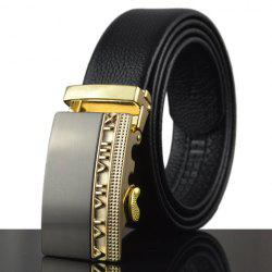 Stylish Hollow Out Alloy Buckle Faux Leather Belt For Men