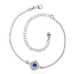 Stylish Rhinestone Spliced Printed Anklet -