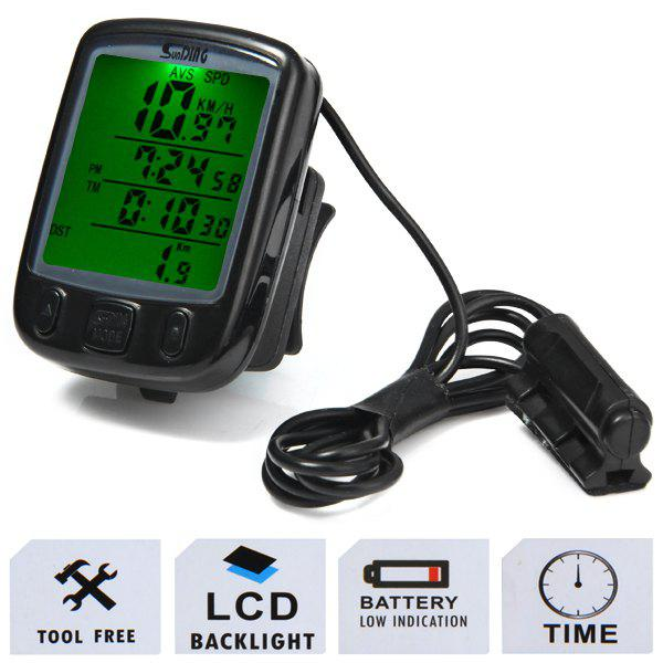 Chic SD - 563A  Large Screen Odometer Waterproof Noctilucent Wired Bicycle Computer Velometer