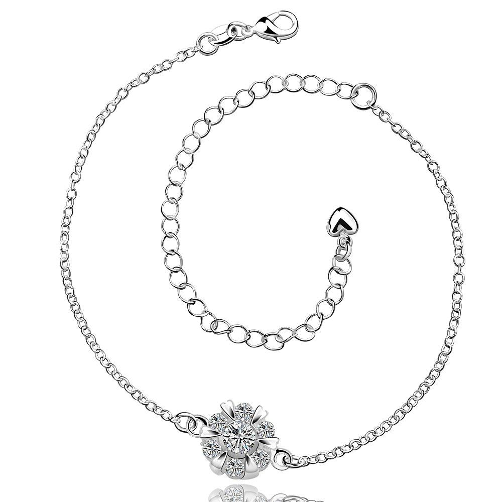 Shop Classic Round Rhinestone Hollow Out Solid Color Fancy Anklets