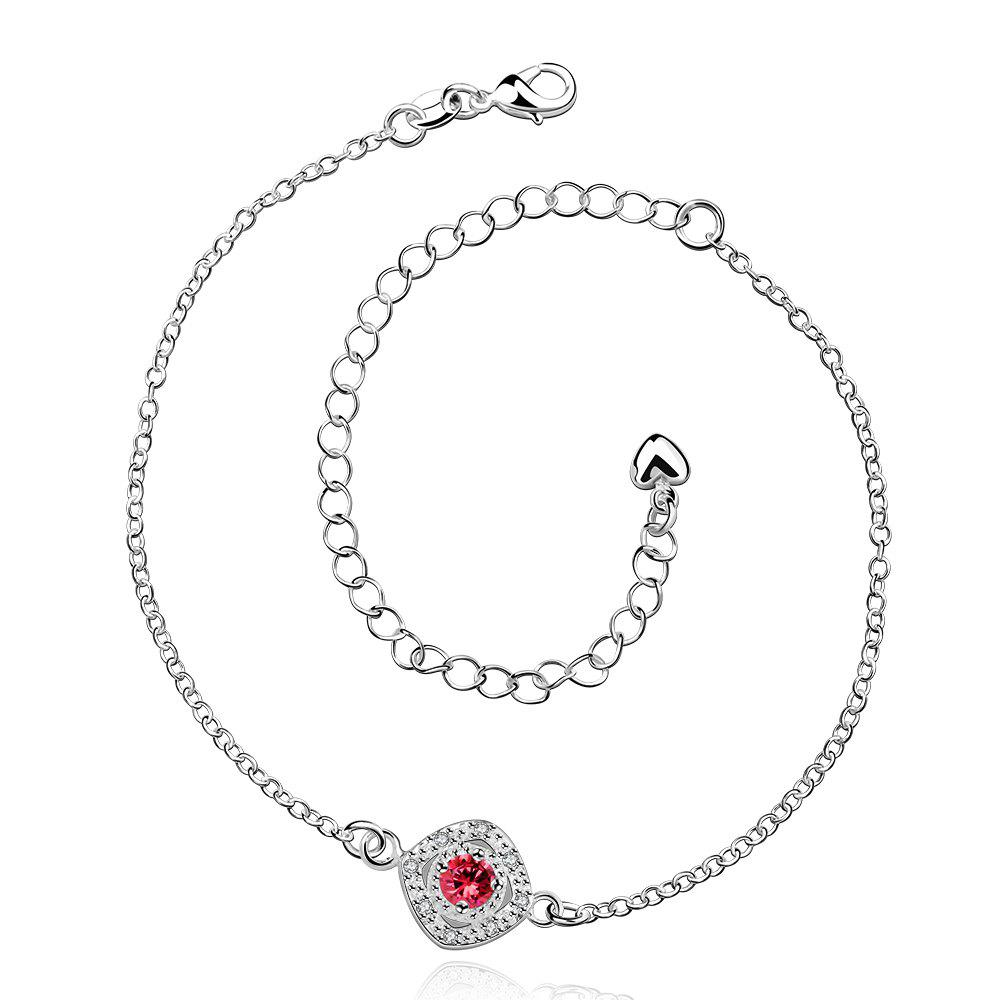 Discount Stylish Rhinestone Spliced Printed Anklet