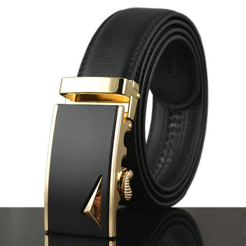 Store Stylish Stereo Triangle Alloy Embellished Faux Leather Belt For Men