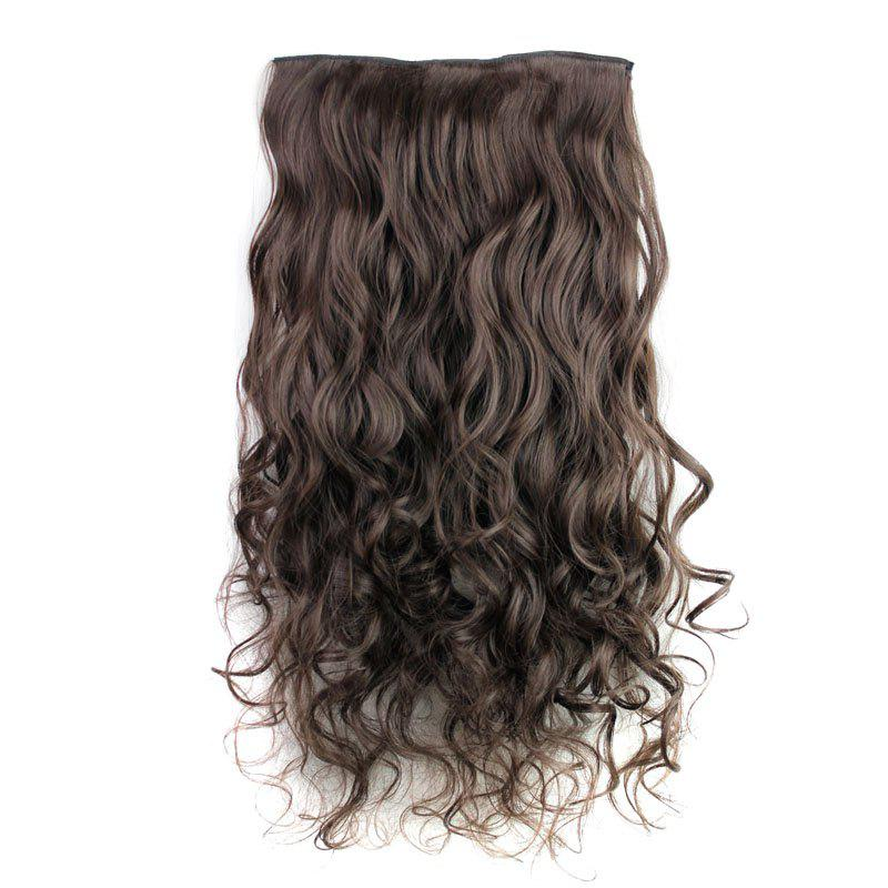 Fashion 23 Inch Long Curly Clip-In Heat Resistant Synthetic Hair Extension For WomenHAIR<br><br>Color: 04#; Hair Extension Type: Clip-In/On; Style: Curly; Fabric: Heat Resistant Synthetic Hair; Length: Long; Weight: 0.170kg; Package Contents: 1 x Hair Extension; Length Size(CM): 47;
