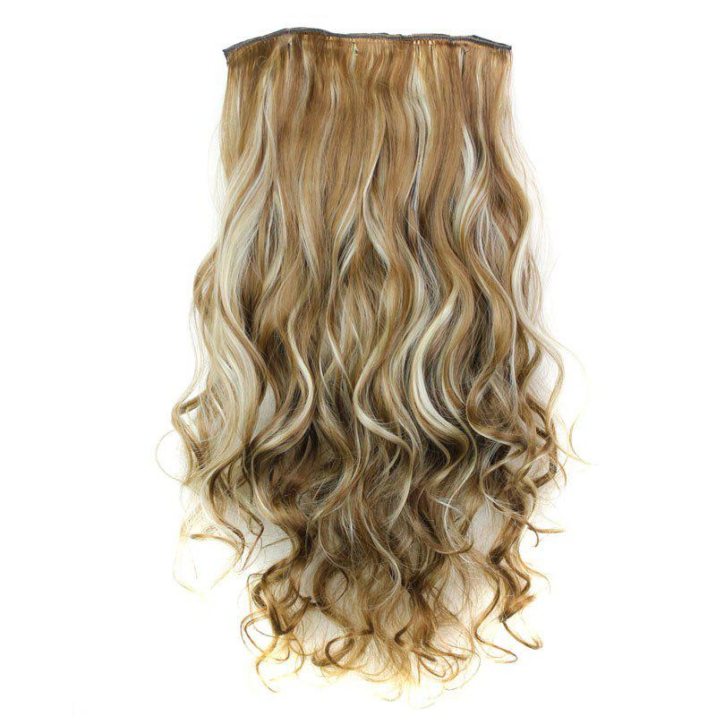 H Fashion 23 Inch Long Curly Clip In Heat Resistant Synthetic Hair