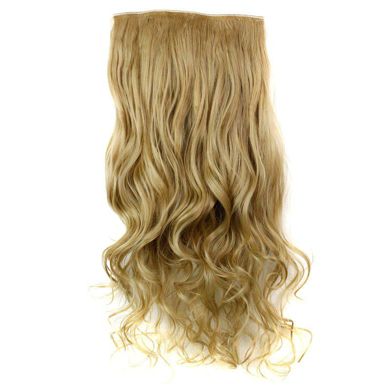 Fashion 23 Inch Long Curly Clip-In Heat Resistant Synthetic Hair Extension For WomenHAIR<br><br>Color: 24/27#; Hair Extension Type: Clip-In/On; Style: Curly; Fabric: Heat Resistant Synthetic Hair; Length: Long; Weight: 0.170kg; Package Contents: 1 x Hair Extension; Length Size(CM): 47;
