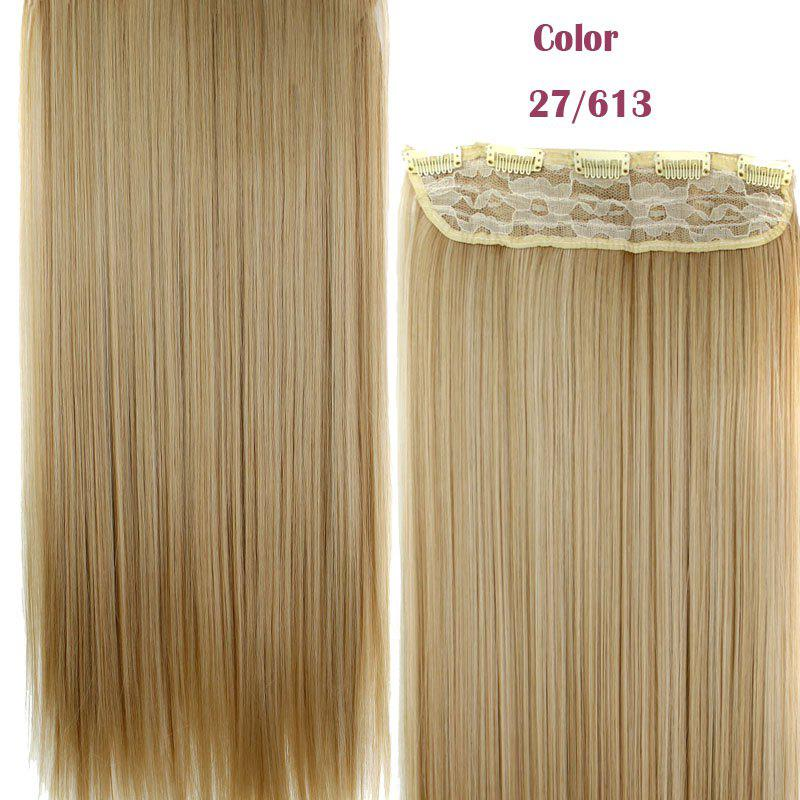 Trendy 23 Inch Long Straight Clip In Heat Resistant Synthetic Hair
