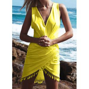 Sexy V-Neck Sleeveless Asymmetrical Women's Dress