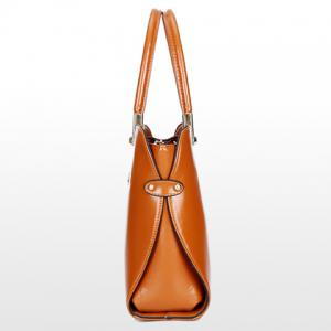 Fashion Style Solid Color and Metallic Design Women's Tote Bag -