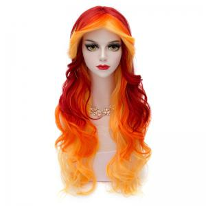 75CM Ombre Cosplay Hair Layered Long Wavy Heat-Resistant Fashion Lolita Harajuku Costume Wig