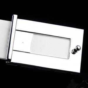 Fashionable Rhombic Buckle and Faux Leather Belt For Men - WHITE