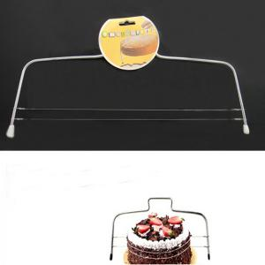 Practical Stainless Steel Cake Cutter Printing Mold Bakeware Kitchen Accessories - SILVER