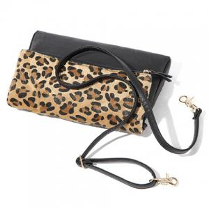 Sexy Zipper and Leopard Print Design Women's Crossbody Bag -