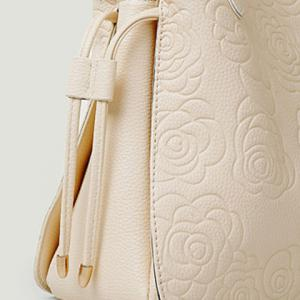 Graceful Embossing and Floral Print Design Women's Tote Bag -
