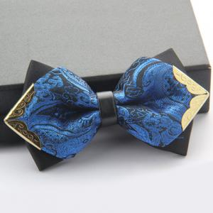 Stylish Alloy Embellished Various Pattern Double-Deck Bow Tie For Men -