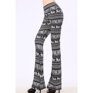 Stylish Elastic Waist Wide Leg Printed Women's Exumas Pants -