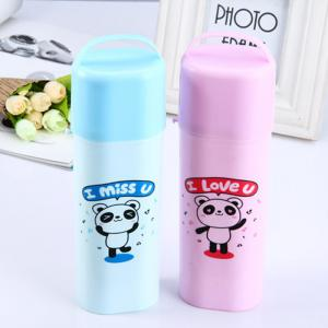Fashinable Original Toothbrush Case with Cosmetic Mirror Cute Lovely House Use Travelling - Random Color