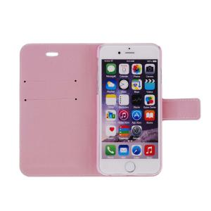 Kinston Iron Tower Pattern PU and PC Material Protective Cover Case with Stand and Card Holder for iPhone 6 - 4.7 inch -