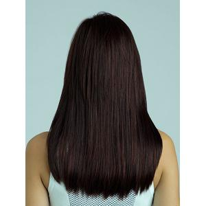 Mixed Color Real Human Hair Long Natural Straight Full Bang Charming Women's Best Human Hair Wig -