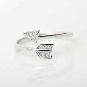 Rhinestone Arrow Cuff Ring