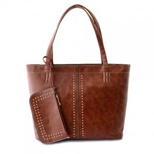 Fashion Style Rivets and Zipper Design Women's Vintage Bag -
