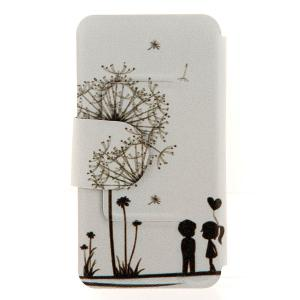 Kinston Dandelion Pattern PU Leather Full Body Cover with Stand and Card Holder for iPhone 6 Plus - 5.5 inch -