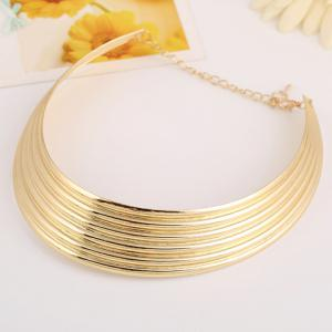 Punk Curved Alloy Necklace - GOLDEN
