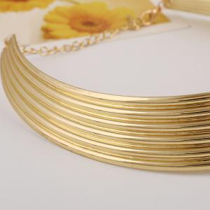 Punk Curved Alloy Necklace -