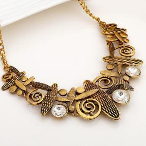 A Suit Hyperbolic Beads Geometric Handbag Pendant Necklace And Earrings For Women - GOLDEN