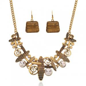 A Suit Hyperbolic Beads Geometric Handbag Pendant Necklace And Earrings For Women -