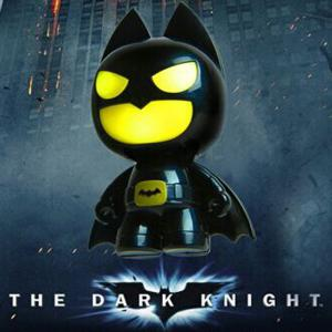 Batman Style USB LED Nightlight Creative Eyeshield Table Lamp Home Decoration - Yellow And Black