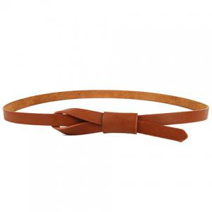 Chic Knotted Candy Color Slender Belt For Women -