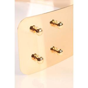 Full Metal Extra Wide Mirror Waist Belt - GOLDEN