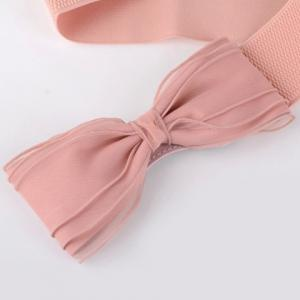 Chic Yarn Bow Embellished Elastic Waistband For Women -