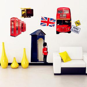 London Sreet Scene PVC Removable Wall Art Decal Sticker -