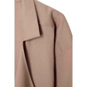 Lapel Neck Long Sleeve Solid Color Trench Coat - CAMEL XL