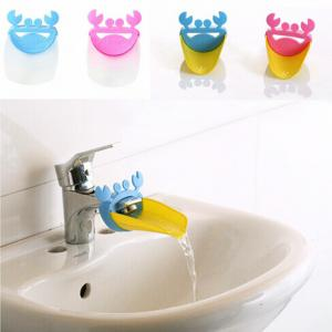 Kid Toddler Baby Lovely Crab Pattern Faucet Extender Washing Hands Bathroom Sink -