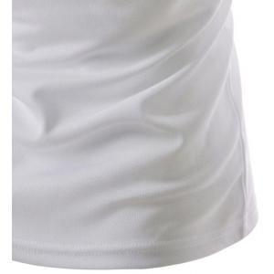 Fashion Round Neck Tattoo Print Slimming Short Sleeve Polyester T-Shirt For Men -