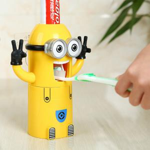 Pegman Binoculus Style Distributeur Automatique De Dentifrice Distributeur Squeezer Brosse À Dents Ensemble De Support -