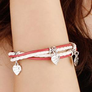 Delicate Heart Layered Women's Bracelet