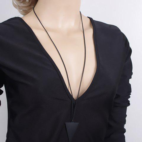 Best Chic Triangle Shape Sweater Chain Necklace For Women