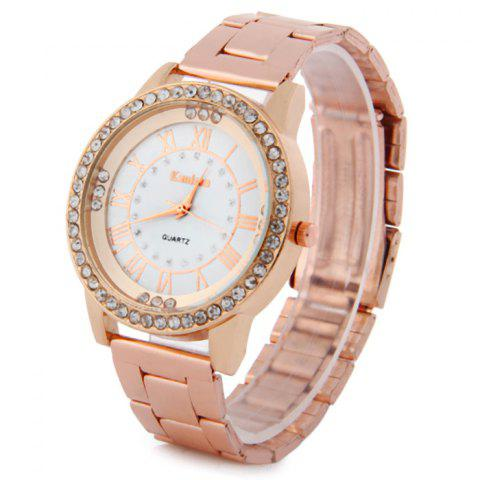 Affordable Kanima Female Quartz Watch Stainless Steel Band Diamond Wristwatch