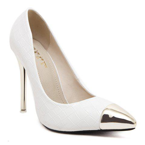 Shop Sexy Stone Pattern and Metal Toe Design Women's Pumps