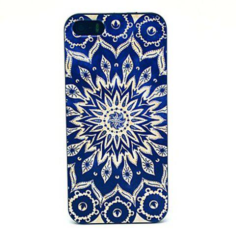 Cheap Kinston Blue Sunflower Pattern PC Phone Back Cover Case for iPhone SE / 5 / 5S