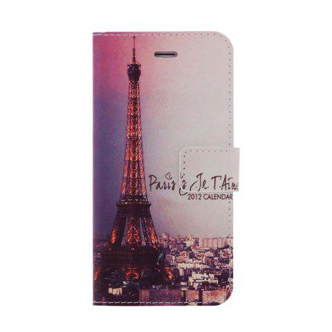 Outfit Kinston Iron Tower Pattern PU and PC Material Protective Cover Case with Stand and Card Holder for iPhone 6 - 4.7 inch